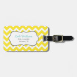 Yellow Chevron Tags For Bags