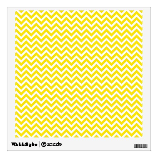 Yellow Chevron Wall Sticker