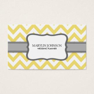 Yellow Chevron Wedding Planner Business Card