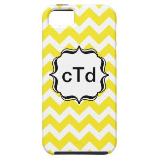 Yellow Chevron Zig Zag Monogram Iphone Case iPhone 5 Cases