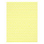 """Yellow Chevron/Zig Zag Scrapbook Paper 8.5"""" X 11"""" Flyer"""