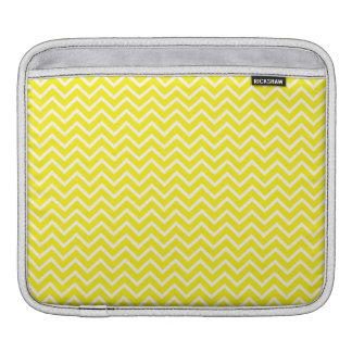 Yellow Chevron Zigzag Stripes iPad Sleeves