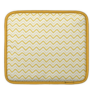 Yellow chevron zigzag stripes zig zag pattern sleeve for iPads
