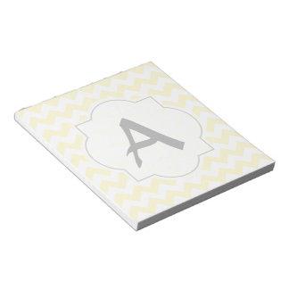 Yellow Chevrons Custom Text Note Pad