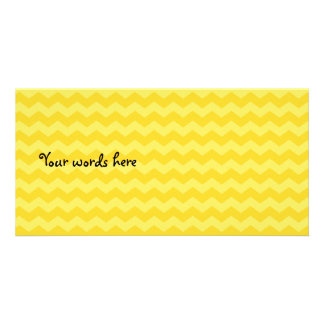 Yellow chevrons photo card