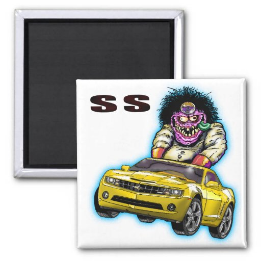 Yellow Chevy Camaro SS Magnet