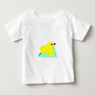 Yellow chick blue hand children grapic kid baby T-Shirt