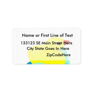 Yellow chick blue hand children grapic kid label
