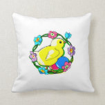 yellow chick colorful wreath of flowers.png pillows