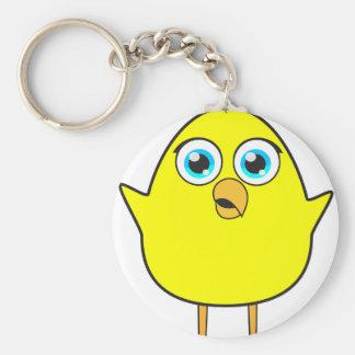 Yellow chick keychain