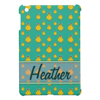 Yellow Chick Pattern Name Template Cover For The iPad Mini