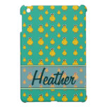 Yellow Chick Pattern Name Template Case For The iPad Mini