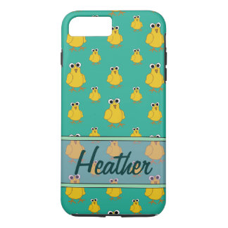 Yellow Chick Pattern Name Template iPhone 8 Plus/7 Plus Case