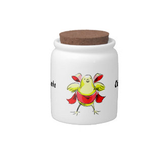 Yellow chick red ribbon abstract.png candy jar