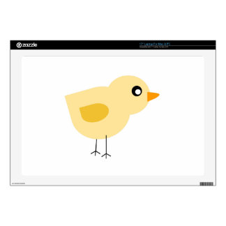 """Yellow Chick 17"""" Laptop Decals"""