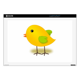 Yellow Chick Decal For Laptop