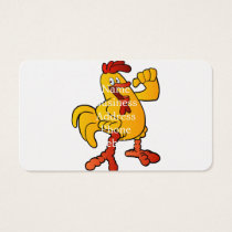yellow chicken cartoon business card
