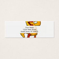yellow chicken cartoon mini business card