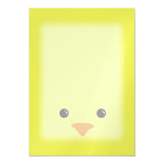 Yellow Chicken Cute Animal Face Design Card