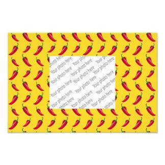 Yellow chili peppers pattern photo print