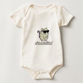 Yellow Chinchillin Chinchilla Baby Bodysuit