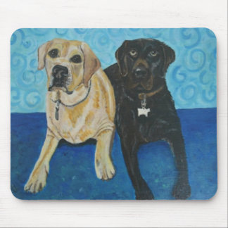 Yellow & Chocolate Lab Mouse Pad