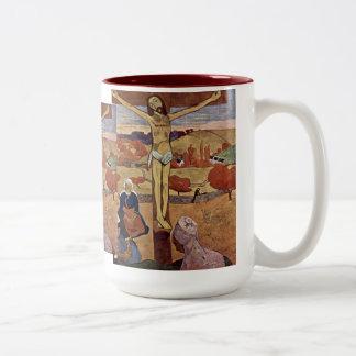 Yellow Christ by Gauguin, Vintage Impressionism Mug