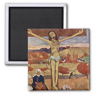 Yellow Christ by Paul Gauguin, Vintage Fine Art Magnet