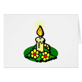 Yellow Christmas Candle Card