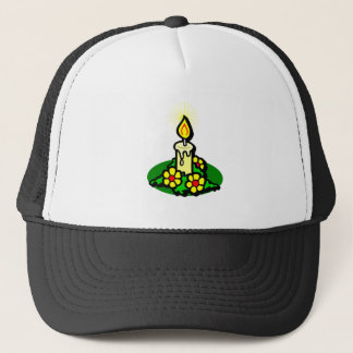 Yellow Christmas Candle Trucker Hat