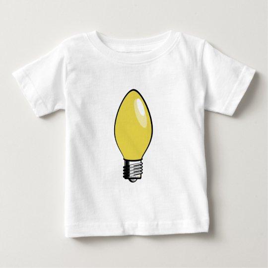 Yellow Christmas Tree Light Baby T-Shirt