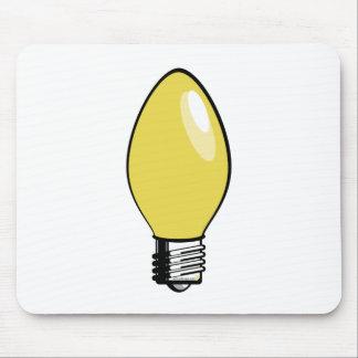 Yellow Christmas Tree Light Mousepad
