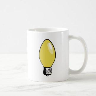 Yellow Christmas Tree Light Mug