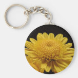 Yellow Chrysanthemum Basic Round Button Keychain