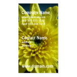 Yellow Chrysanthemum Business Card Template