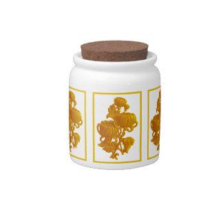 Yellow Chrysanthemum Candy Dish