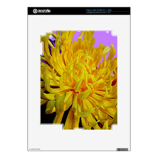 Yellow Chrysanthemum Flower Gifts by Sharles Skins For The iPad 2