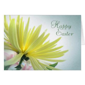 Yellow Chrysanthemum Happy Easter Card