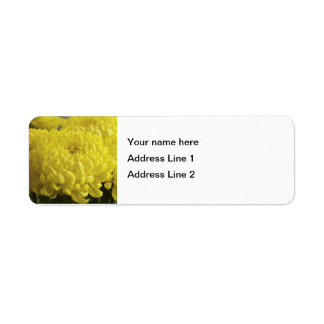 Yellow Chrysanthemum Macro Photograph - Template Label