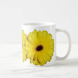 Yellow chrysanthemum mug