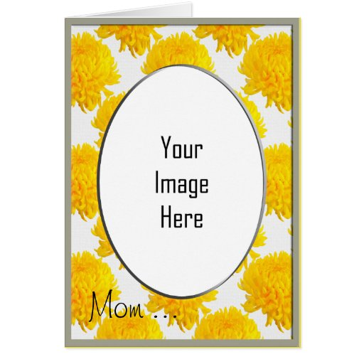Yellow Chrysanthemum Photo Frame Template Card