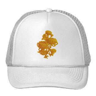 Yellow Chrysanthemum Trucker Hats
