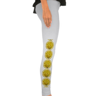 Yellow Chrysanthemums Legging Tights