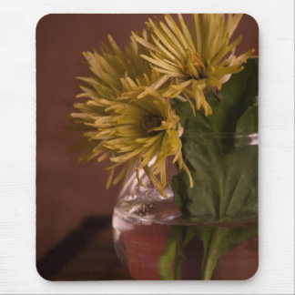 yellow chrysanthemums mouse pad