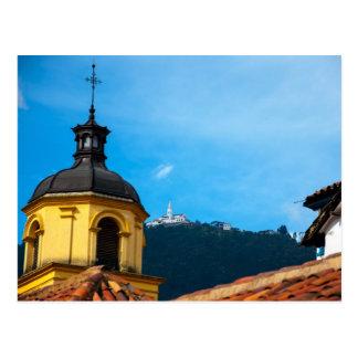 Yellow church and Monserrate Postcard