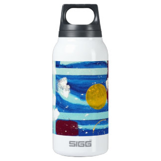 Yellow Circle 10 Oz Insulated SIGG Thermos Water Bottle