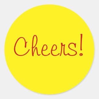 Yellow Circle Cheers stickers