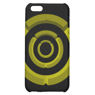 yellow circle cover for iPhone 5C
