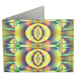 Yellow Circle Fractal Abstract Tyvek® Billfold Wallet