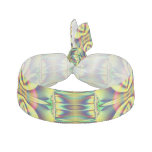 Yellow Circle Fractal Abstract Hair Tie
